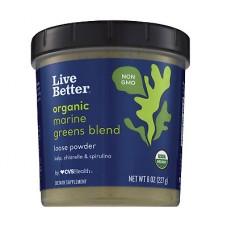 Live Better Organic Marine Greens водорасли на прах 227g