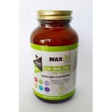 Хранителна добавка Cal-Mg-Zinc 180 табл - MAXLIFE Supplements