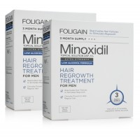 Срещу косопад и оплешивяване FOLIGAIN.N5 (Low Alcohol Formula) MINOXIDIL 5% 3x60ml за 3 месеца