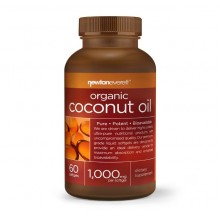 Organic Coconut oil 1000mg 60 Softgels - Newton Everett