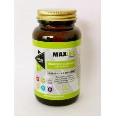 Хранителна добавка Turmeric (Curcuma) with Bioperine 900 мг 60 капсули - MAXLIFE Supplements