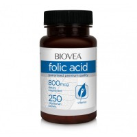 Хранителни добавки Biovea FOLIC ACID (Vitamin B9) 800mcg 250 Tablets