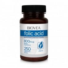 Хранителни добавки Biovea FOLIC ACID (Vitamin B9) 800mcg 250 Tablets