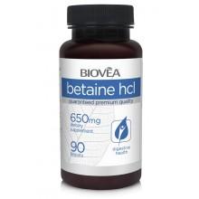 Хранителна добавка Biovea BETAINE HCL 650mg цена 22.50 лв.