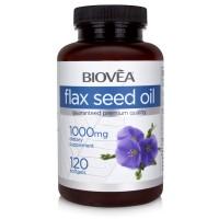 Хранителна добавка Biovea FLAX SEED OIL 1000mg цена 34.00 лв.
