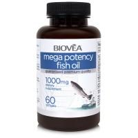 Хранителна добавка Biovea MEGA POTENCY FISH OIL 1000mg - цена 27.50 лв.