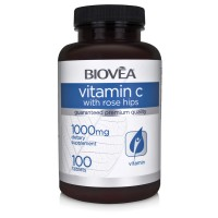 Витамини Biovea VITAMIN C with ROSEHIPS 1000mg 100 Tablets - цена 26.00лв.