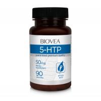 Аминокиселини Biovea 5-HTP 50mg 90 Капсули - Цена 36.50 лв.