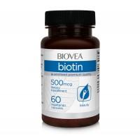 Хранителна добавка Biovea BIOTIN (Vitamin B7) 500mcg цена 19.00 лв.