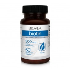 Хранителна добавка Biovea BIOTIN (Vitamin B7) 500mcg-със срок на годност 30.01.2021г.