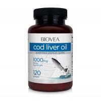 Хранителна добавка Biovea COD LIVER OIL 1000mg цена 25.50лв.