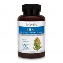 Хранителна добавка DGL (De-Glycyrrhizinated Licorice) 100 Capsules