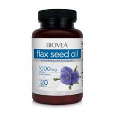 Хранителна добавка Biovea FLAX SEED OIL 1000mg 120 softgels