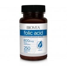 Хранителни добавки Biovea FOLIC ACID (Vitamin B9) 800mcg 250 Tablets - цена 34.00лв.