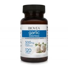 Хранителна добавка Biovea GARLIC (ODORLESS) 500mg 120 капсули цена 34.00лв.