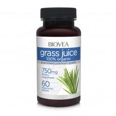 Хранителна добавка Biovea GRASS JUICE (Organic) 750mg 60 таблетки