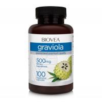 Хранителна добавка Biovea GRAVIOLA 500mg 100 капсули цена 32.00лв.