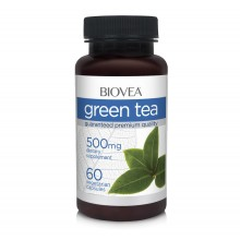 Хранителна добавка Biovea GREEN TEA 500mg 60 капсули -СЪС СТОК НА ГОДНОСТ 10/2021Г.