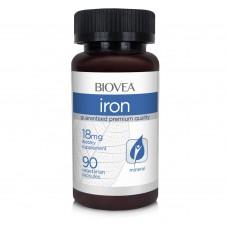 Хранителна добавка Biovea IRON 18mg 90 Capsules цена 20.50лв.