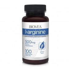 Хранителна добавка Biovea L-ARGININE 500mg 100 Capsules