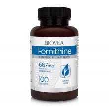 Хранителна добавка Biovea L-ORNITHINE 667mg - цена 32.50лв.