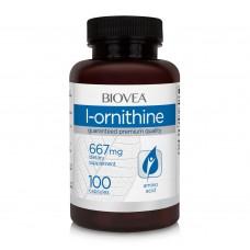 Хранителна добавка Biovea L-ORNITHINE 667mg 100 caps