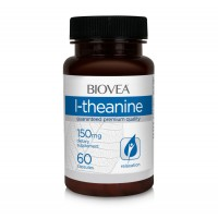 Хранителна добавка Biovea L-THEANINE 150mg 60 капсули.