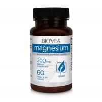 Хранителна добавка Biovea MAGNESIUM 200mg 60 Tablets - цена 25.50лв.