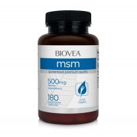 Хранителна добавка Biovea MSM 500mg 180 Capsules - цена 29.50 лв.