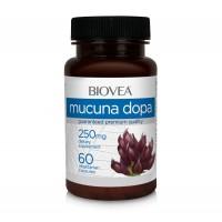 Хранителна добавка Biovea MUCUNA DOPA 100mg 60 капсули - цена 24.00лв.