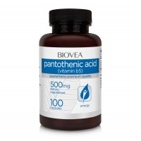 Хранителна добавка Biovea PANTOTHENIC ACID (Vitamin B5) 500mg