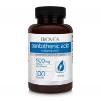 Хранителна добавка Biovea PANTOTHENIC ACID (Vitamin B5) 500mg - цена 39.00лв.