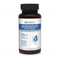 Хранителна добавка Biovea POTASSIUM (TIME RELEASE) 99mg - цена 30.50лв.