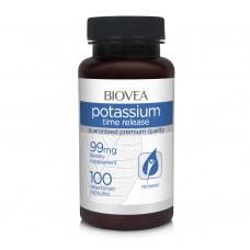 Хранителна добавка Biovea POTASSIUM (TIME RELEASE) 99mg -със срок на годност 05/2021г