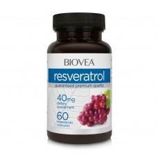 Хранителна добавка Biovea RESVERATROL 40mg - цена 30.50 лв.