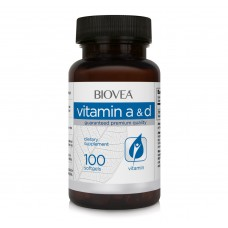 Хранителна добавка Biovea VITAMIN A & D 100 Softgels