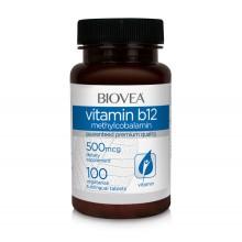 Витамини Biovea VITAMIN B12 Methilcobalamin 500mcg цена 14.50лв.
