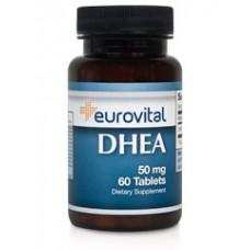 Хранителна добавка Eurovital DHEA 50mg - цена 29.00лв.