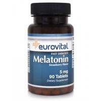 Хранителна добавка Eurovital MELATONIN 5mg - цена 51.00лв.